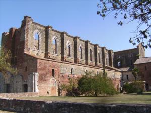 italien, tokana, san galgano, montesiepi, kloster, klosterruine, kirche