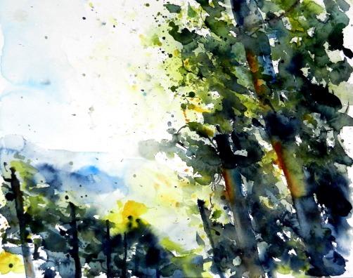 aquarell, watercolor, waldviertel, weilviertel, wein, vine, vieyard, weingärten, weingarten, weinberge, weinstöcke, licht, light, retz