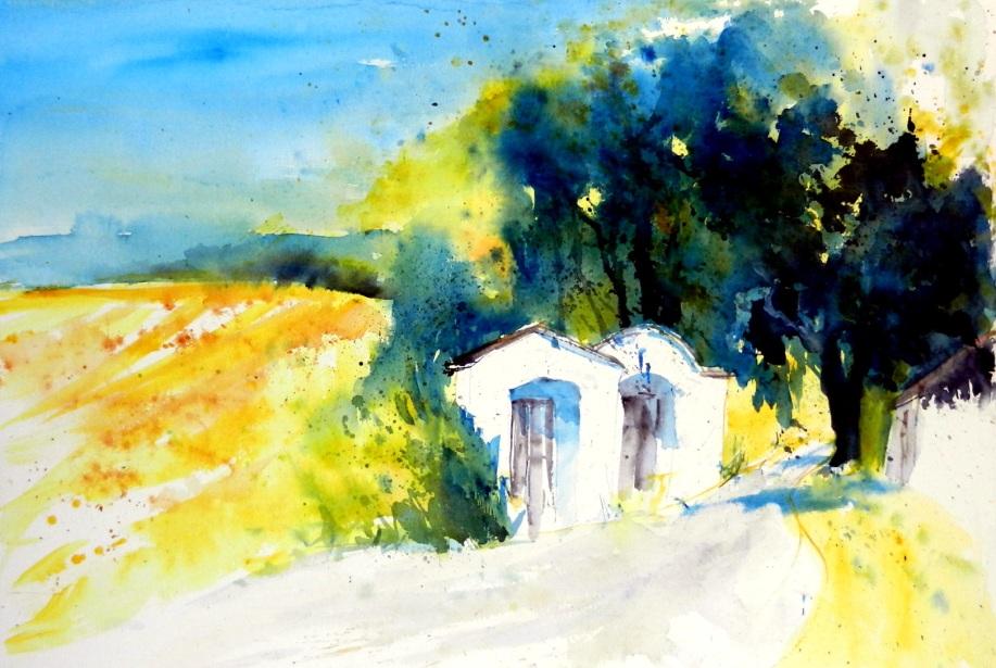 aquarell, watercolor, keller, weinkeller, kellergasse, vineyard, weingärten