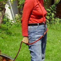 Christine mit Hund 2010